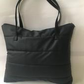 Хит 2020 - стеганная сумка-шопер из кожзама