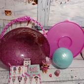 Кукла Lol SnowBaby с шаром + мега шаром глиттерная