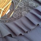 Шикарное вечернее платье насыщеного темно-синего цвета р. 42-44