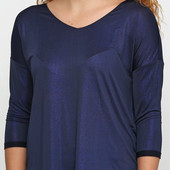Красивая новая фирменная блуза с люрексом!44-46 евроразмер!Цвет темно синий!