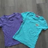 2шт! Набор футболок для девочки Pepperts! Германия! 122-128р.