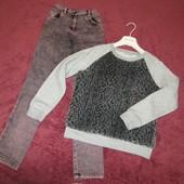 Джинсы + свитер, девочке 9-10 лет