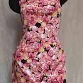 платье с розами -котон
