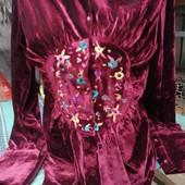 Распродажа! Красивая велюровая рубашка с вышивкой. Есть размеры с 40 по 46