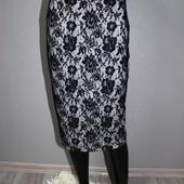 Качество! Стильная юбочка/фактурная ажурная ткань, от Atmosphere в новом состоянии