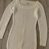 Вязанное платье на девочку-подростка или стройную девушку, XS-S
