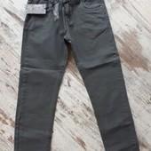 Стильные серые джинсы, плотный коттон. Утяжка р152 12лет 95/72