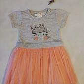 """Нарядное платье на девочку """"Амелия"""" с фатиновой юбкой 110 размер"""