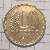 Монета Аргентины 10 песо 1978