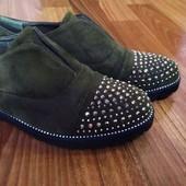Замшевые туфли 39 размер 25.5 стелька