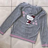Стоп !❤ hello, Kitty)красивая фирменная кофта-капюшонка,160/170❤ Много лотов!