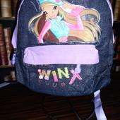 Джинсовый рюкзак для девочки Winx, отделка вельвет, стразы