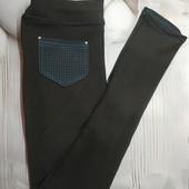 Подростковые брюки лосины для девочки р 158, отлично в школу