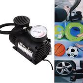 Компрессор для подкачки колес автомобильный Air Compressor 250 psi с манометром + набор иголок,