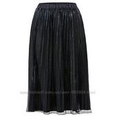 Роскошная трендовая нарядная юбка плиссе синий перелив