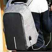 ✅ Рюкзак антивор с Usb design body с защитой от карманников серый ( Хит сезона!)