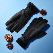 ☘ Теплі рукавички softshell на хутрі від Tchibo (Німеччина), розмір 6.5