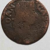 Монета Польша 1 солид 1667(?)год, правление Ян Казимир