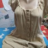 Платье из плотной марлёвки бежевого цвета( для дома) на 50-52(укр.)