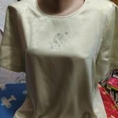 Блузка оливкового цвета на XL
