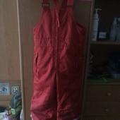 брюки, комбинезон, внутри флис, р. 3-4 года 104 см, H&M. состояние хорошее