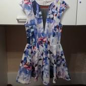 Эффектное платье куколка из неопрена р 46-48