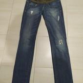 новые джинсы Phard р.XS/S (25) 98%коттон+2%эластан (сток на дефекты проверено)
