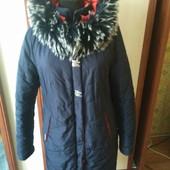 Пальто - парка на синтепоне ,с капюшоном. На размер евро 40