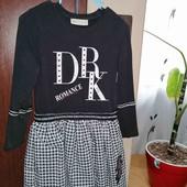 шикарное платье, можно в школу
