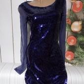 Вау! Шикарное платьице с пайетками размер 44