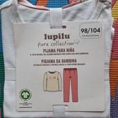 Lupilu хлопковая пижама для девочек 98-104