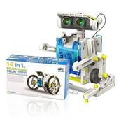 Робот-конструктор 14 в 1 на солнечных батареях