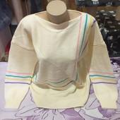 Шикарный бежевый тёплый стречь свитерок. 3xl,4xl,5xl. Смотрите лотов много