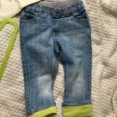 Супер стильные джинсы next с резинкой , 92р