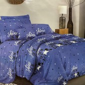 Семейный бязевый постельный комплект с двумя пододеяльника.80% хлопок, 20% полиэстер.расцветка фото1