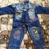 Детский джинсовый костюм