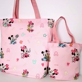 Микки Маус! Комплект милых сумочек для мамы и дочки! Текстиль