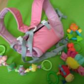 Слинг - рюкзак для ребенка розовый. Новый!