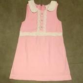 Нежно розовое платье сарафан