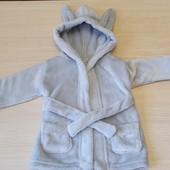 Мякесенький халат для вашого малюка, бренд George, розмір 0-4міс , можна і на більше