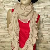 Роскошный новый шарф нюдового цвета