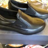 Кожаные туфли слипоны Ecco
