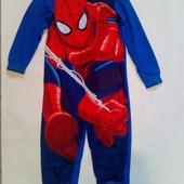 """""""Человек паук """"√√ яркий флисовый слип √√ 6/7 лет ,без нюансов."""