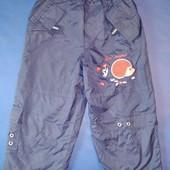 Теплые штаны, на махре, 92 рост,длина 54 см