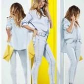 Котоновая рубашка оверсайз Esmara с коллекции Heidi Klum M evro 40+6