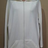 Большой размер..Флисовая курточка / толстовка с капюшоном. р 58-60-62-64..Пог 73-80..Цвет молочный