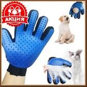 Перчатка-расческа для вычесывания шерсти собак и кошек\антишерсть\пуходерка