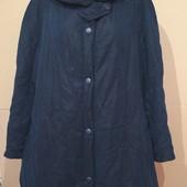 Большой размер.. Стеганная курточка.. Не проьбдувается..р 58-60..Пог 71Темно-синяя