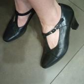 Туфли из натуральной кожи снаружи и внутри, 38 р -24,5 см