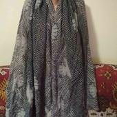 тонкий теплый шарф палантин 50% шерсть